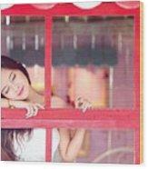 351943 Closed Eyes Asian Women Model Wood Print