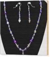 3546 Purple Veined Agate Set Wood Print