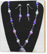3547 Purple Veined Agate Set Wood Print