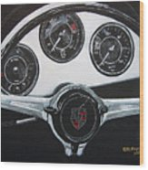 356 Porsche Dash Wood Print