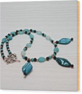 3564 Shell And Semi Precious Stone Necklace Wood Print