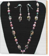 3571 Rhodonite Set Wood Print