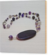 3573 Banded Agate Necklace  Wood Print