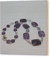 3575 Amethyst Necklace Wood Print