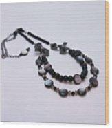 3587 Fun Gunmetal Necklace  Wood Print