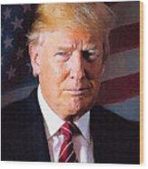 Donald Trump Wood Print