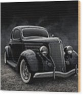 36 Ford Five Window Wood Print