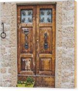 Italian Door  Wood Print