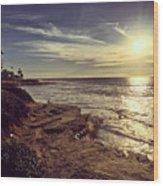 Sunset On La Jolla Beach, California, Usa  Wood Print
