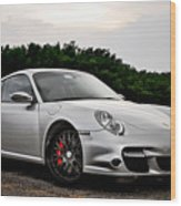 360 Forged Porsche 997tt 2 Wood Print