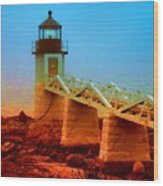 3600001  Maine Lighthouse Wood Print