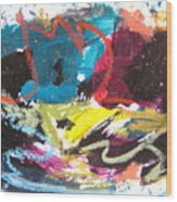 Abstract Expressionsim Art Wood Print