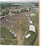 Bonnaroo Music Festival Aerial Photography Wood Print
