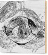 Bw Sketches Wood Print
