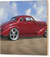 37 Chevy Coupe Wood Print