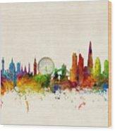 London England Skyline Wood Print