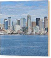 Seattle Skyline Wood Print