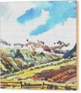 Watercolor Wood Print