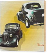 '38 Plymouth Wood Print