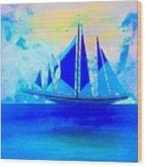 Setting Sail Wood Print