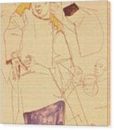 38027 Egon Schiele Wood Print