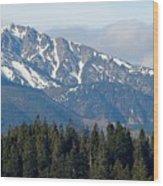 Mountain Wood Print