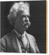 Samuel Langhorne Clemens Wood Print by Granger