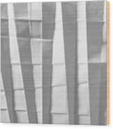 White Folded Paper Wood Print