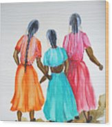 3bff Wood Print by Karin  Dawn Kelshall- Best