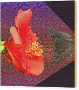 3d Butterfly Wood Print