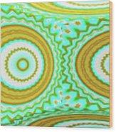 3d Candy Circles  Wood Print