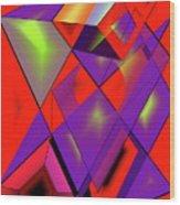 3d-cubes Wood Print