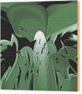 3d Green Abstract Wood Print