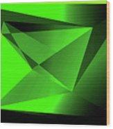 3d-greenpyramids Wood Print
