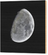 3d Moon Wood Print