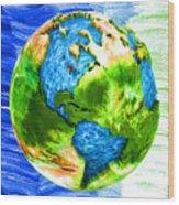 3d Render Of Planet Earth 11 Wood Print