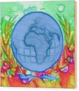 3d Render Of Planet Earth 17 Wood Print