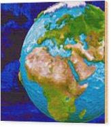 3d Render Of Planet Earth 6 Wood Print