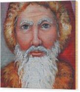 3d Santa Wood Print