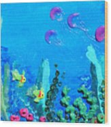 3d Under The Sea Wood Print by Ruth Collis