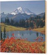 3m4824 Tipsoo Lake And Mt. Rainier H Wood Print