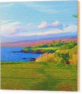 3rd Across The Bay At Mauna Kea Wood Print