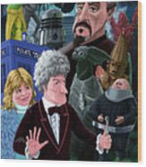 3rd Dr Who And Friends Wood Print