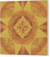 3rd Mandala - Solar Plexus Chakra Wood Print