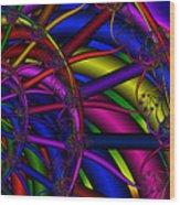 3x1 Abstract 912 Wood Print