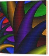 3x1 Abstract 915 Wood Print