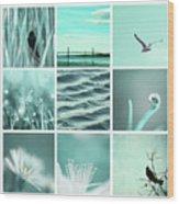3x3 Aqua Blue Wood Print