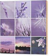3x3 Purple Wood Print