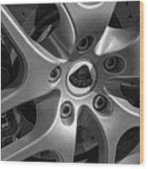 2011 Lotus Euora Wheel Emblem Wood Print