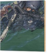A Navy Seal Combat Swimmer Wood Print